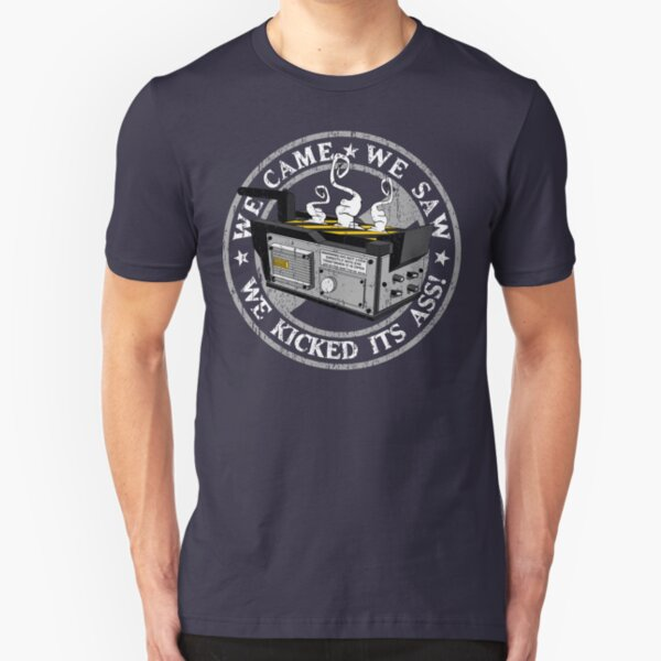 We came, we saw, we kicked its ass! Slim Fit T-Shirt