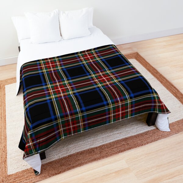 Stewart Black Tartan   Clan Stuart   Cute Tartan Comforter