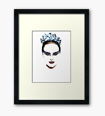 Black Swan face Framed Print