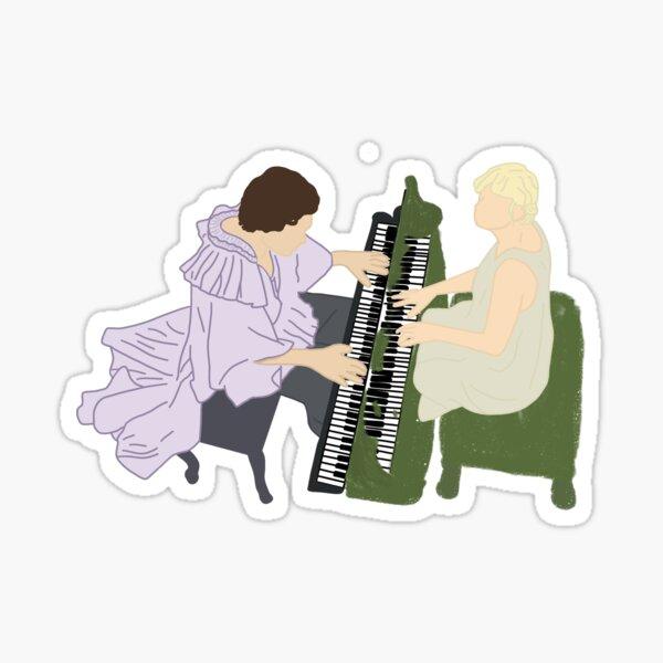 Haylor cardigan falling design sticker  Sticker
