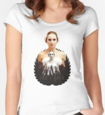 Black Swan sweet girl Women's Fitted Scoop T-Shirt