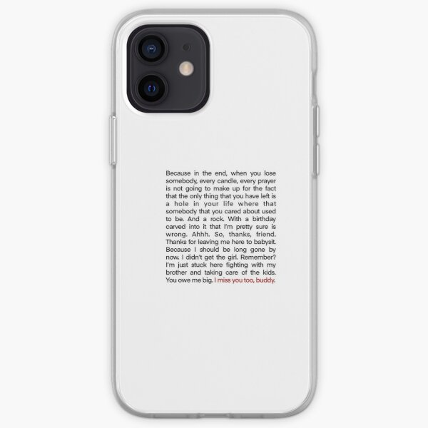 Damon's speech to alaric iPhone Soft Case