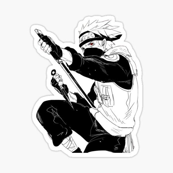 Red Eye Shinobi Sensei - Fighting drawing Sticker