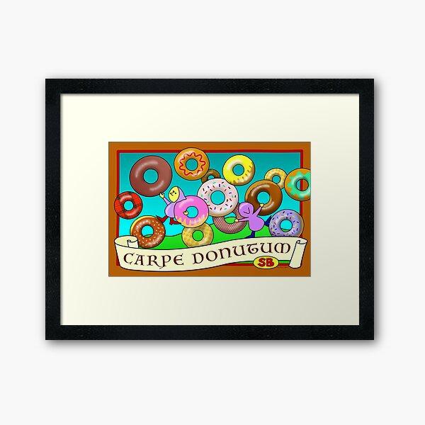 Carpe Donutum Framed Art Print