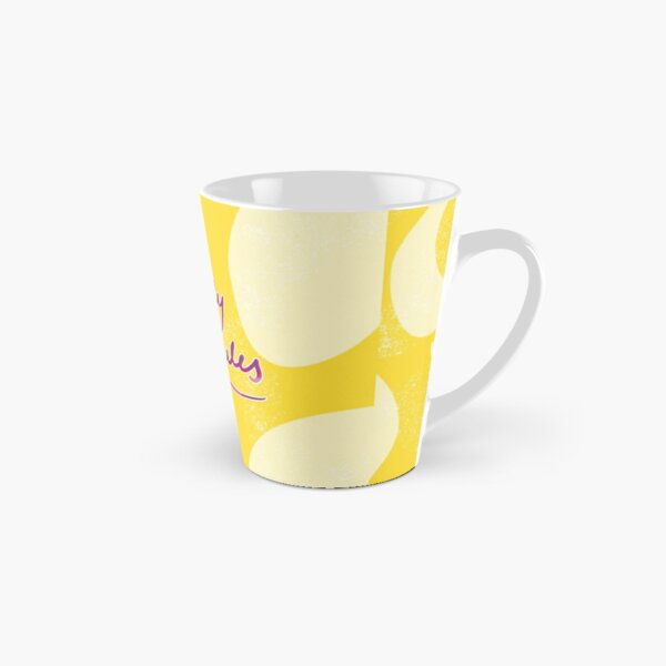 My Body My Rules Feminist Quote Yellow Abstract Illustration Tall Mug