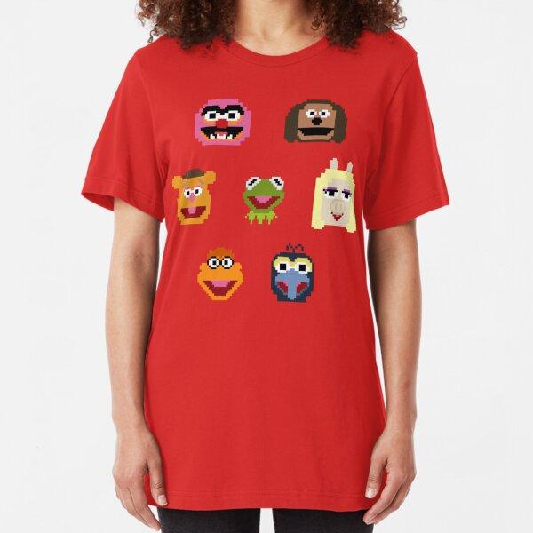 8-Bit Muppets Slim Fit T-Shirt