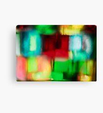 Coloured Glass Canvas Print