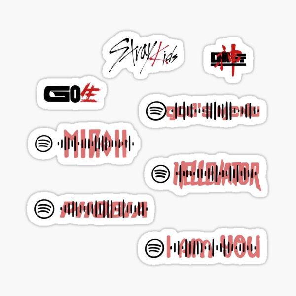 Pack d'autocollants StrayKids - Codes Spotify Sticker