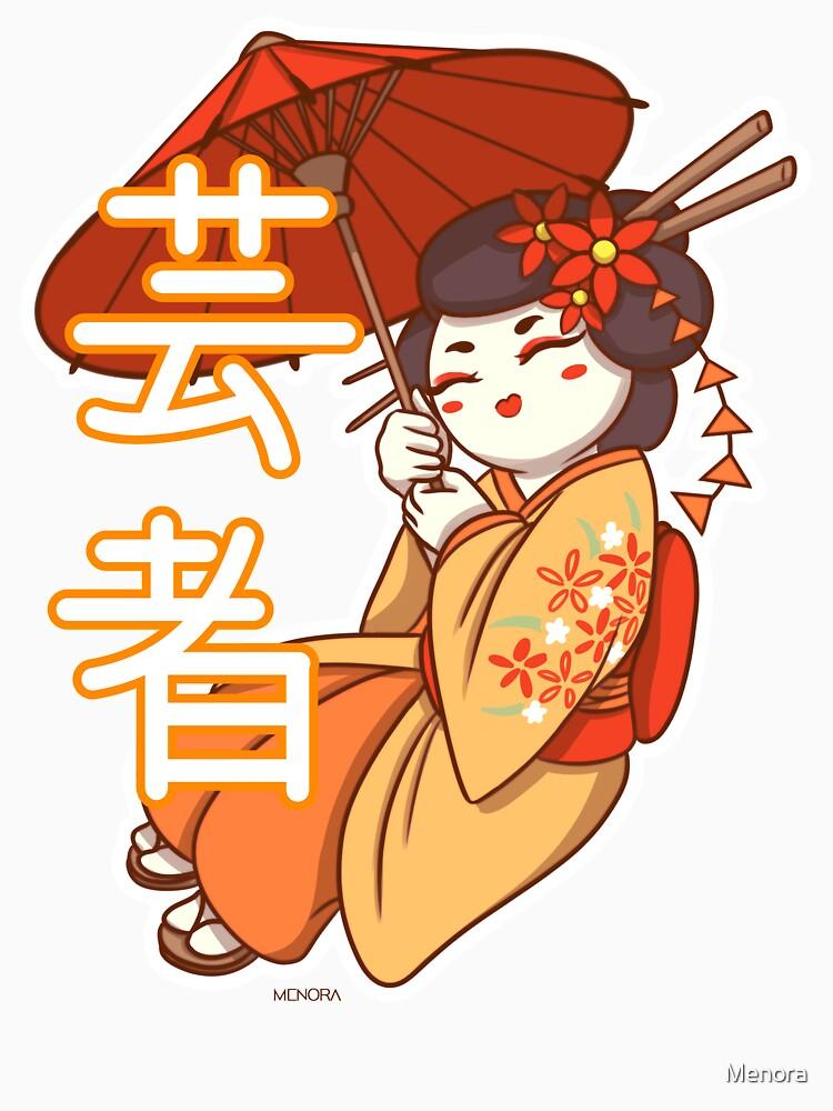 «Geisha avec son Ombrelle» par Menora