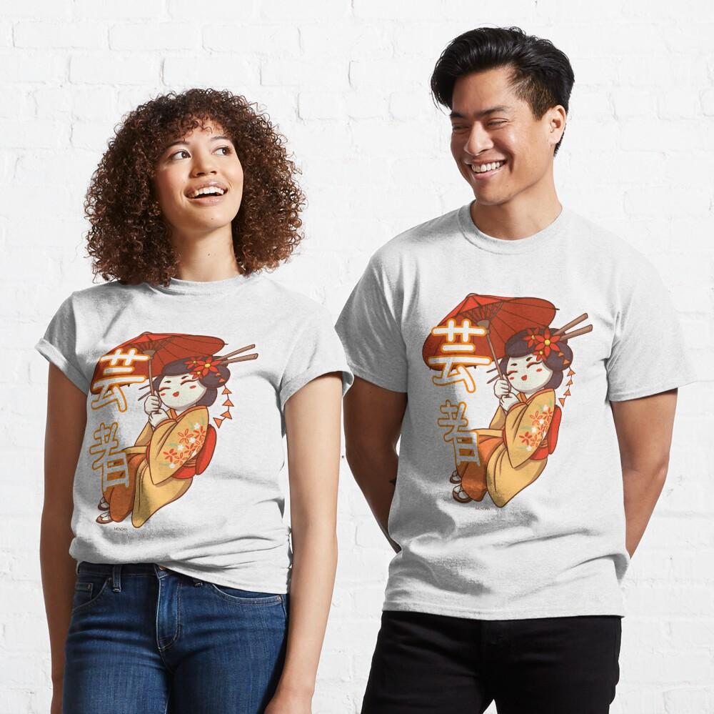 T-shirt classique «Geisha avec son Ombrelle»