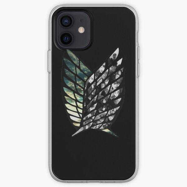 Attack on titan Logo Ailes Coque souple iPhone