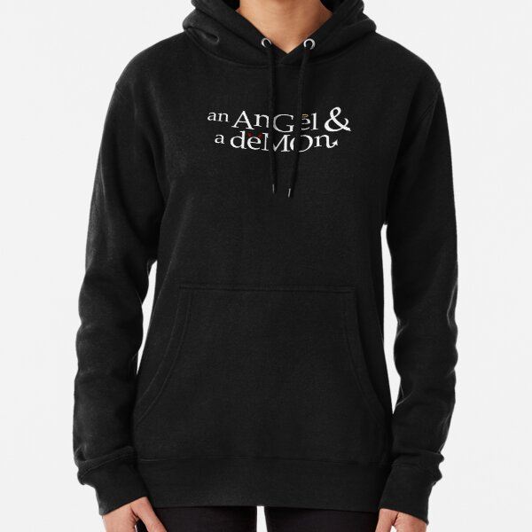 an angel and a demon Pullover Hoodie