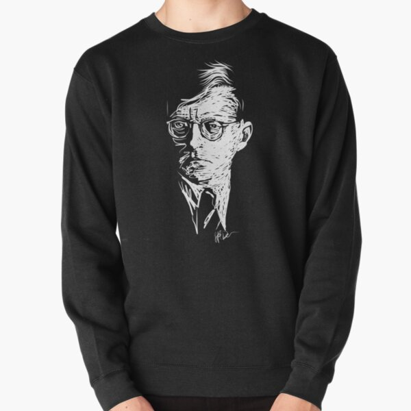 Shostakovich drawing in white Pullover Sweatshirt