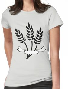 Wheat and Banner Womens Fitted T-Shirt
