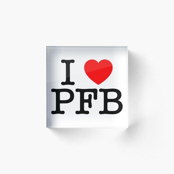 I Love Plastic Fauxno Band - Black Print Acrylic Block