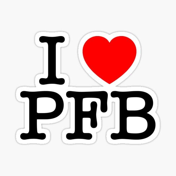 I Love Plastic Fauxno Band - Black Print Sticker