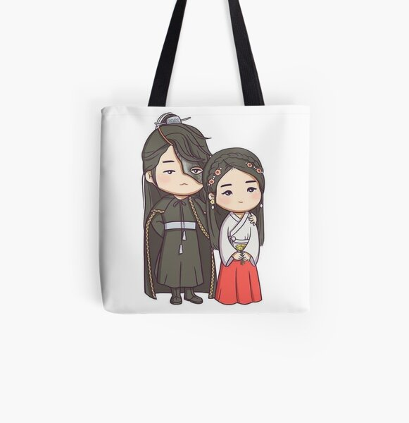 moon lovers All Over Print Tote Bag