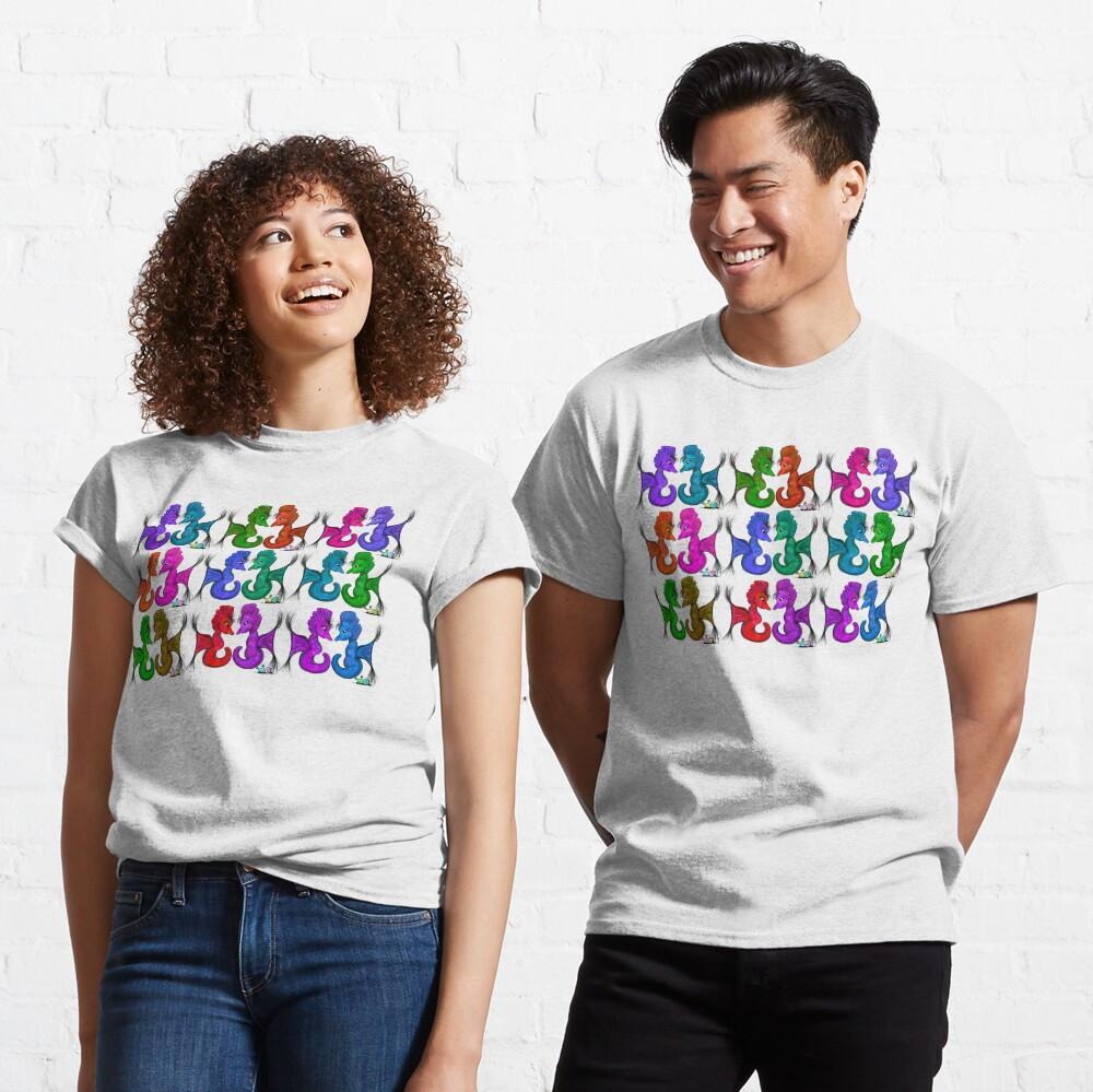 New Sea Love Seahorse Family Rainbow Classic T-Shirt
