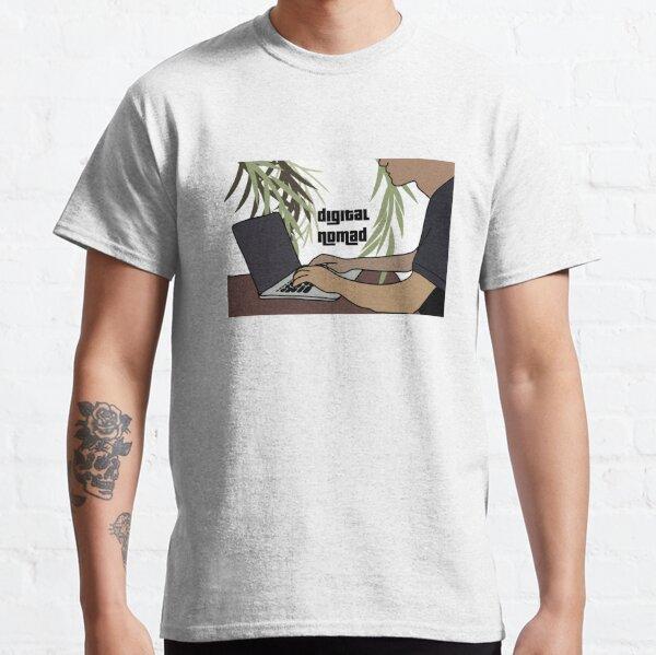 Nómada digital: Ilustración Camiseta clásica