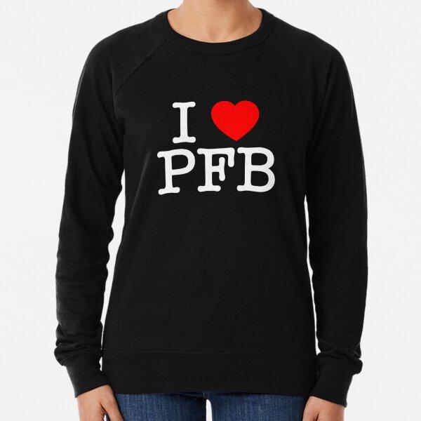 I Love Plastic Fauxno Band - White Print Lightweight Sweatshirt