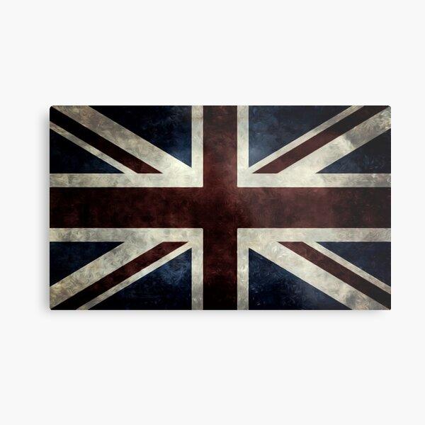 A grunge looking distressed Union Jack uk version Metal Print