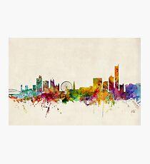 Manchester England Skyline Cityscape Photographic Print