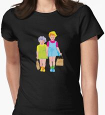 Bronwen and Sandra go to the Ekka Womens Fitted T-Shirt