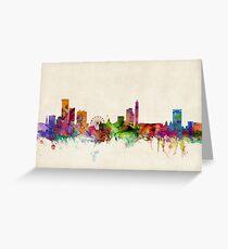 Birmingham England Skyline Cityscape Greeting Card