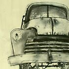 old truck charcoal by donna malone