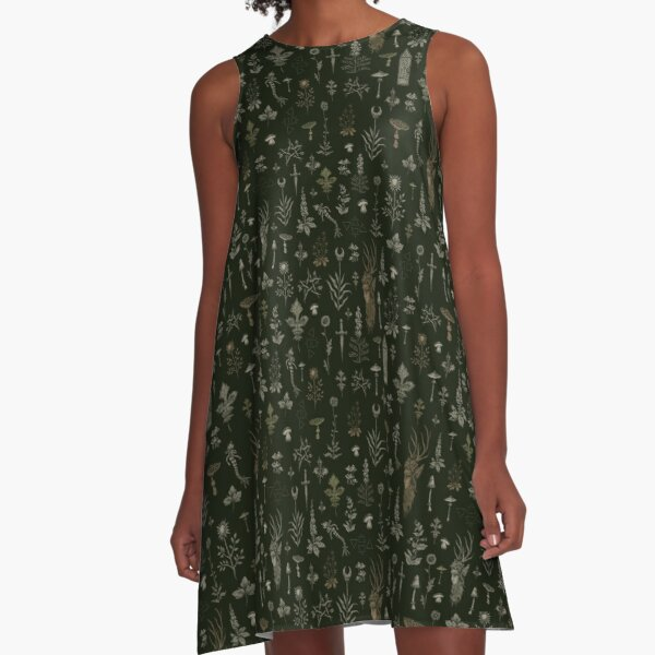 Forest and Field Guardian  A-Line Dress