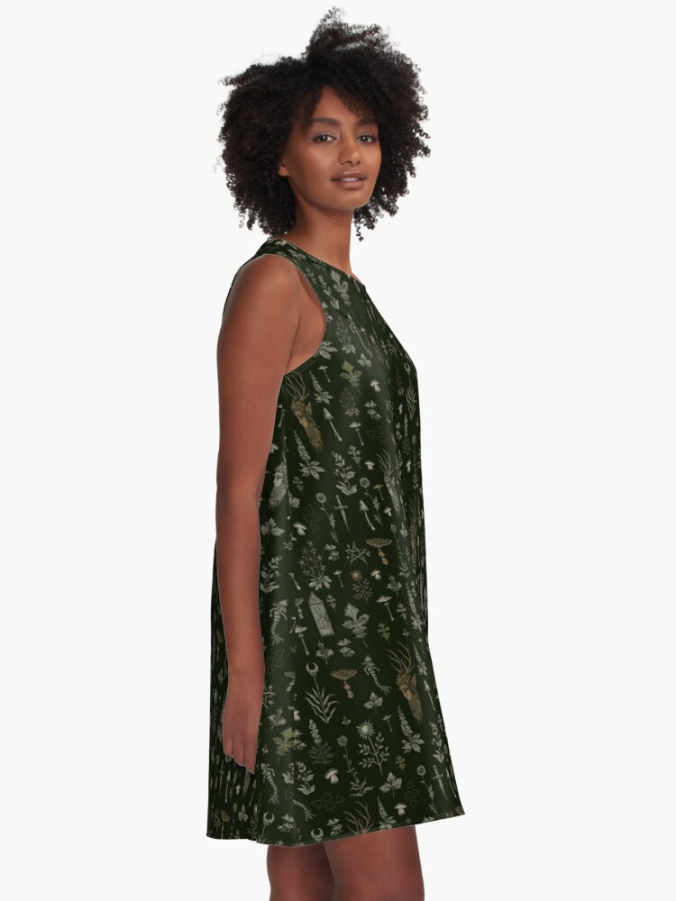 Alternate view of Forest and Field Guardian  A-Line Dress