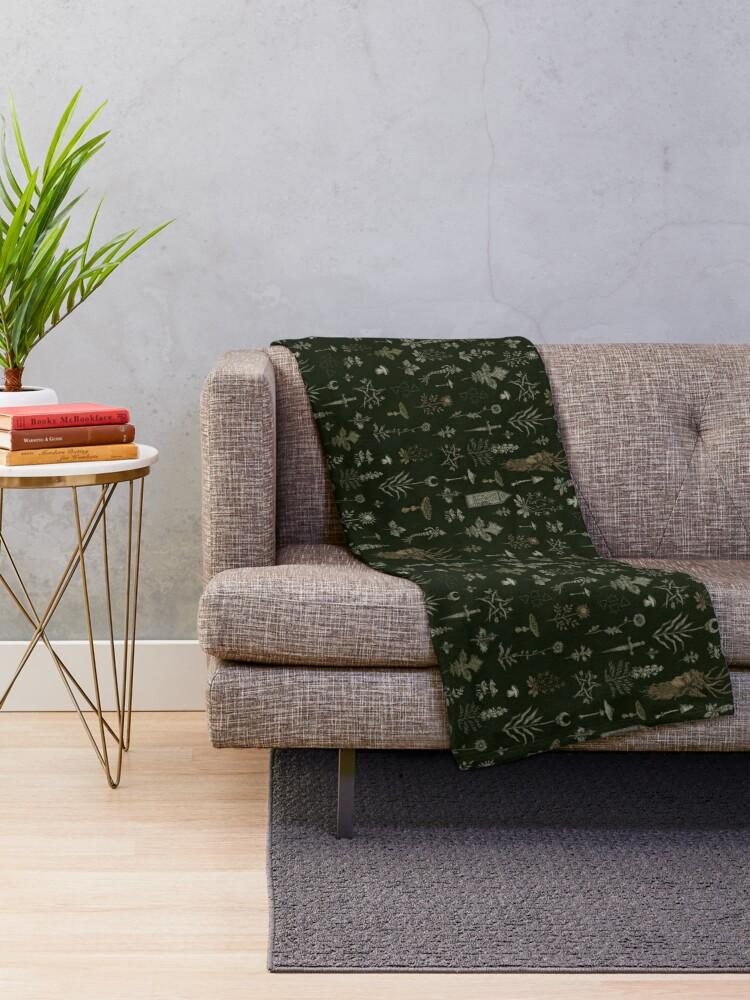 Alternate view of Forest and Field Guardian  Throw Blanket