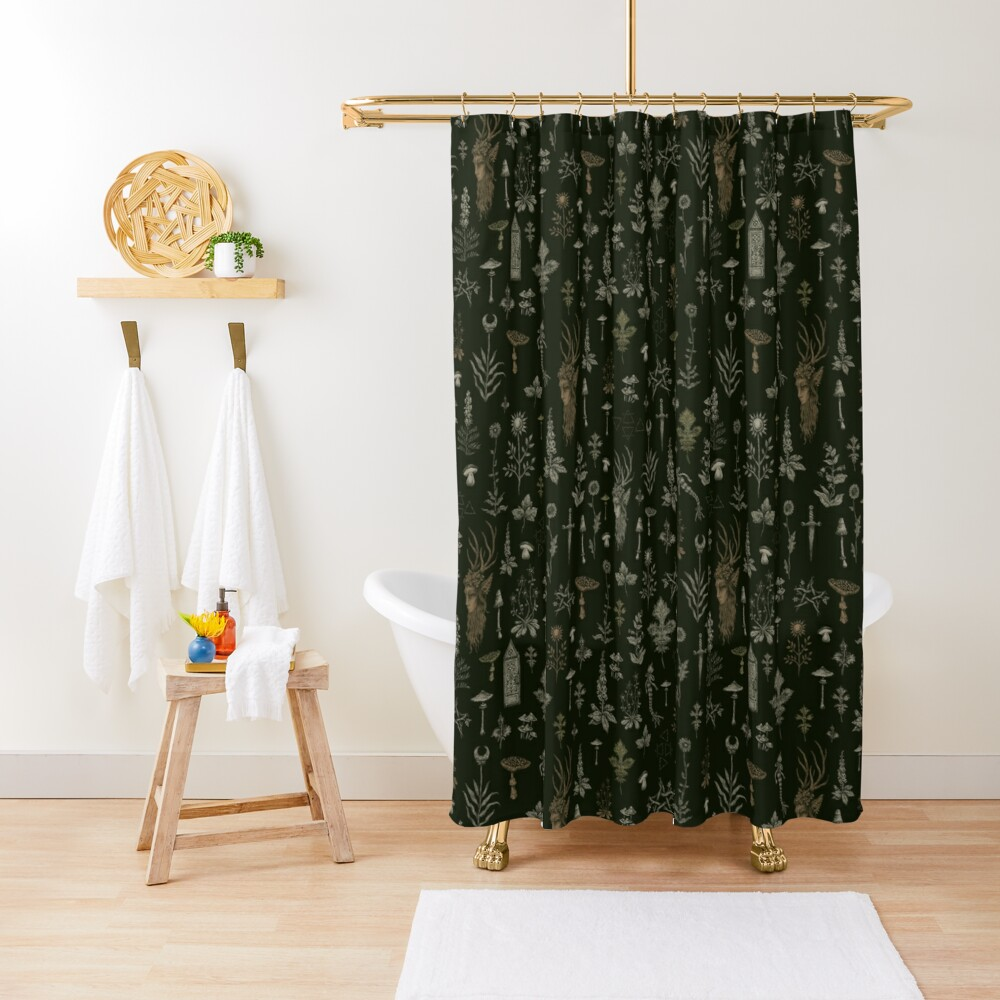 Forest and Field Guardian  Shower Curtain