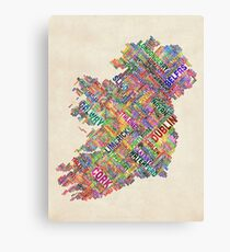 Ireland Eire City Text map Canvas Print