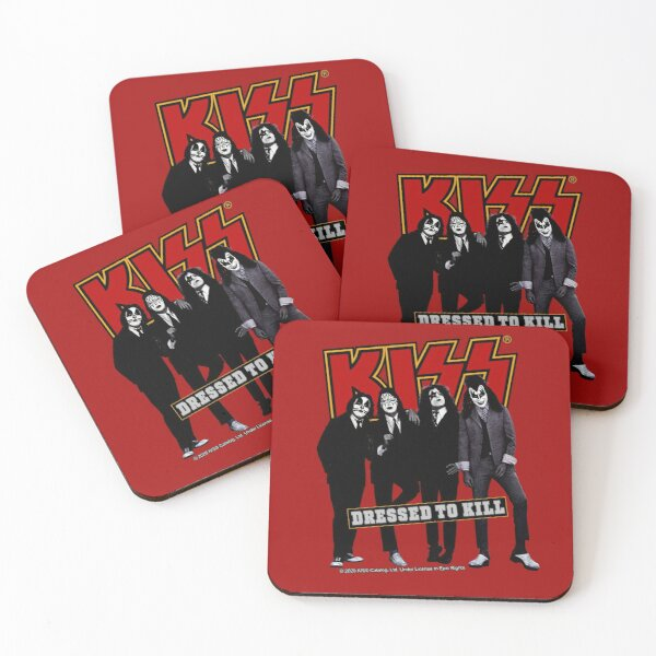 KISS ® the Band - Dressed to kill in Red Coasters (Set of 4)