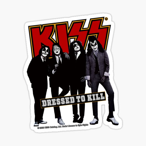 KISS ® the Band - Dressed to kill in Red Sticker
