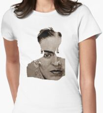 FRIDA KAHLO - sepia Womens Fitted T-Shirt