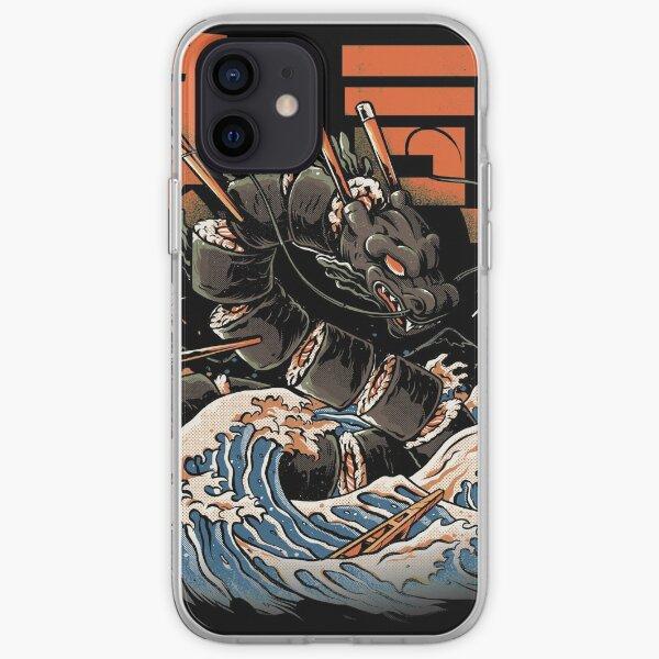 The Black Sushi Dragon Coque souple iPhone