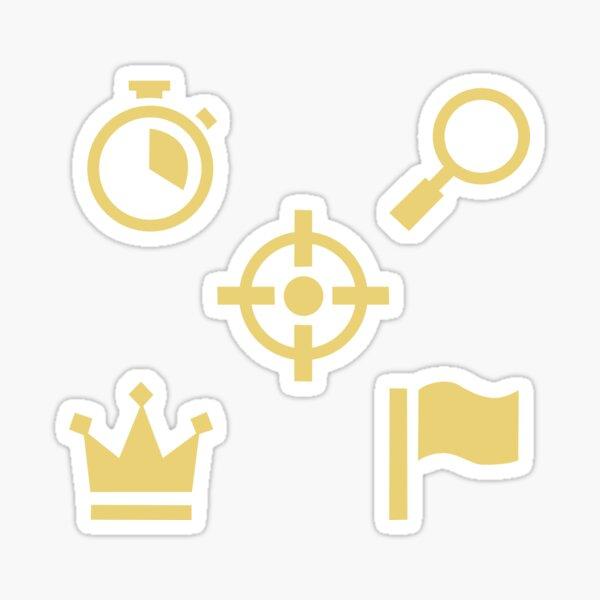 Pack de iconos de contrato inspirado en Cod Warzone Pegatina