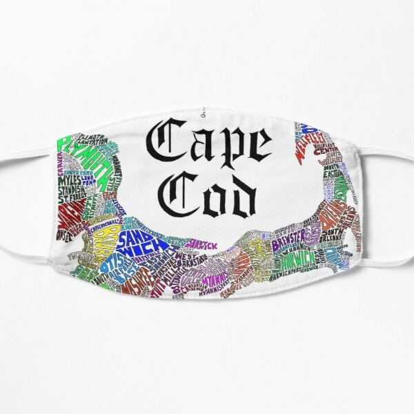 Cape Cod Map Flat Mask