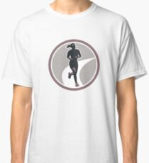 Female Marathon Runner Run Retro Classic T-Shirt