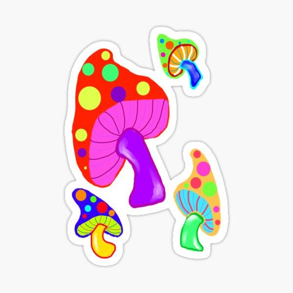 Dancing Mushrooms Sticker