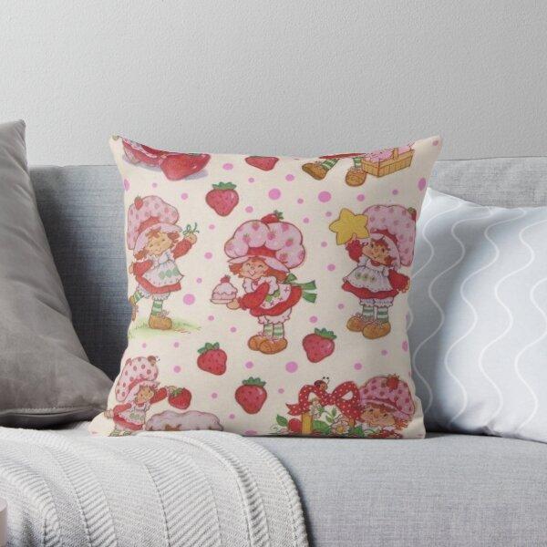 vintage strawberry shortcake Throw Pillow