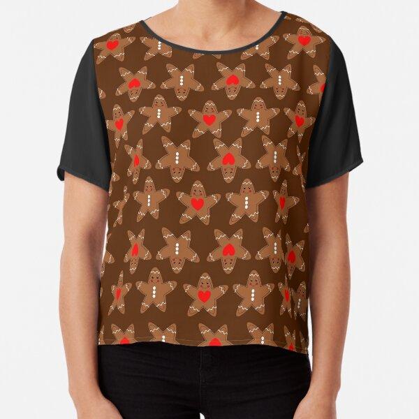 Pattern Gingerbread man Chiffon Top
