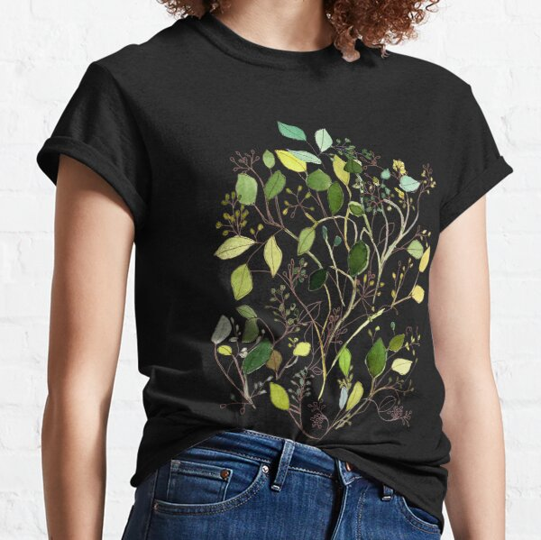 Eucalyptus greenery watercolor  Classic T-Shirt