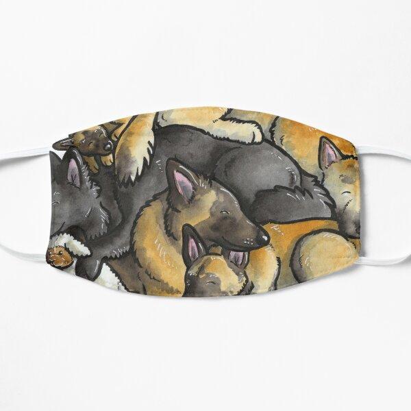 Sleeping pile of Belgian Shepherd dogs Mask