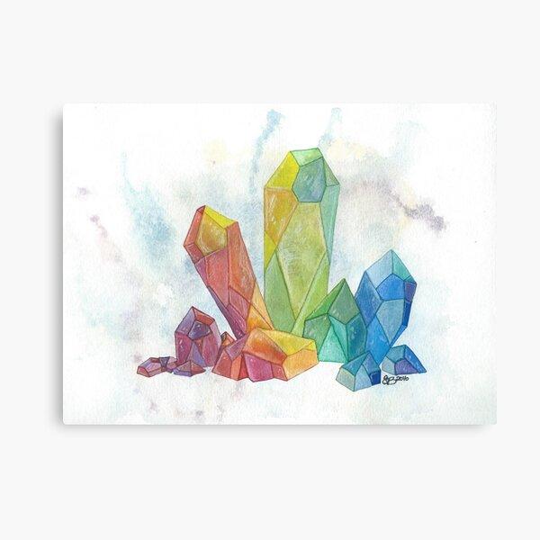 Rainbow Crystal Cluster Canvas Print