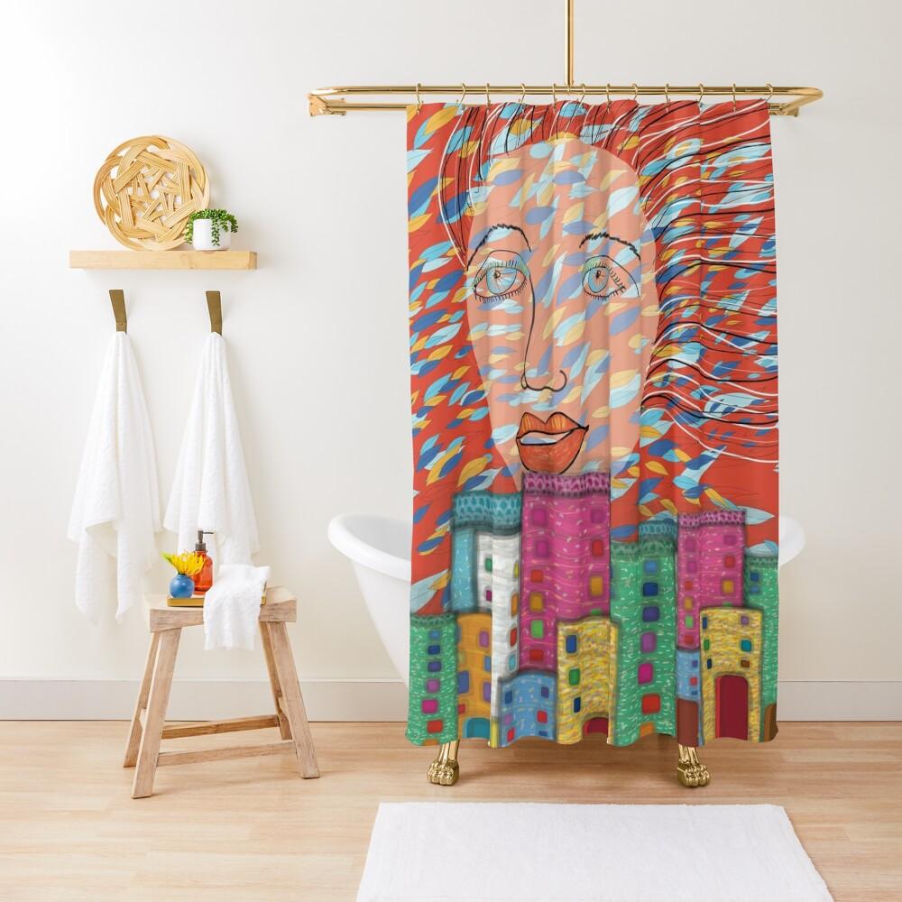 The Spirit of Autumn Shower Curtain