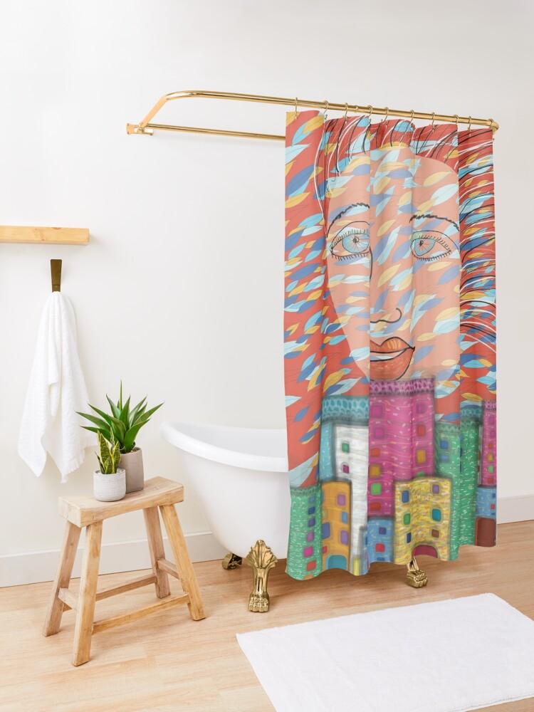 Alternate view of The Spirit of Autumn Shower Curtain