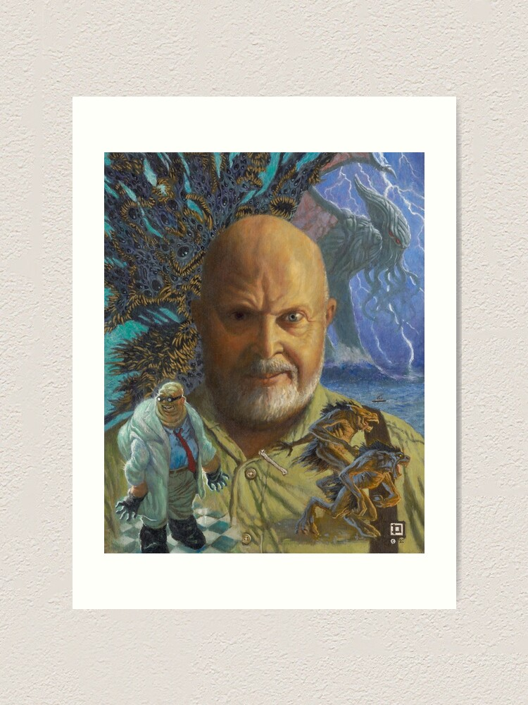 Alternate view of Sandy of Cthulhu portrait Art Print